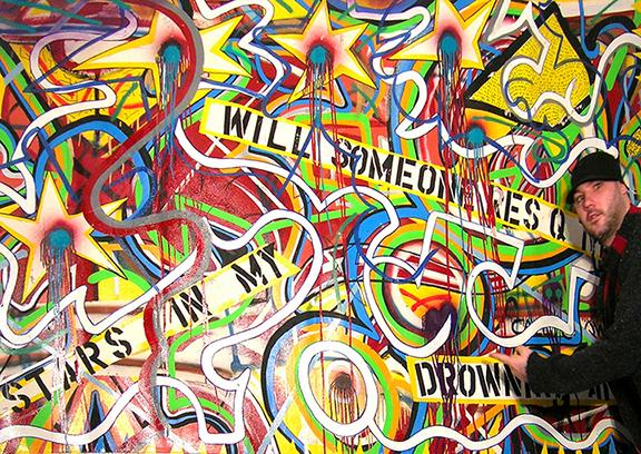 We Hurdle Stars, by Bryan Matthew Boutwell, Abstract Painting, Large Scale, Artist Blog, Live Fiction, poetry, insight and introspective writing, San Francisco Art Galleries, Oakland CA art scene