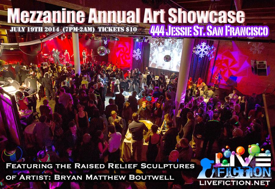 Mezzanine Annual Art Show, San Francisco CA, July 19th 2014, Featuring artist Bryan Matthew Boutwell