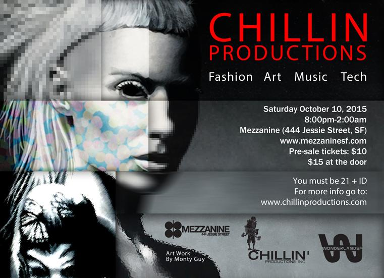 Chillin Production's Annual Fine Art Group Show at Mezzanine in San Francisco 2015