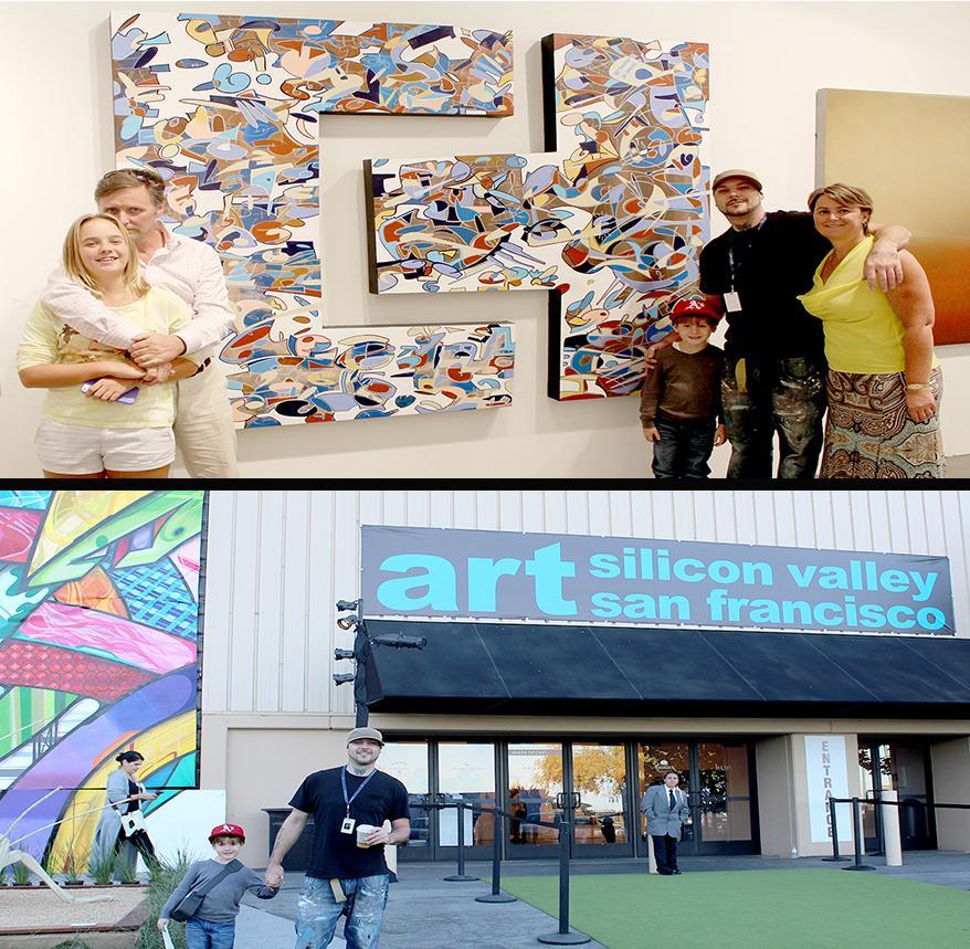 2014 SV / San Francisco World Art Fair, Canary Through A Fan-Original Painting by Bryan Matthew Boutwell-Sold