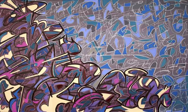 Napa Vineyard is an abstract painting about the tannins and grape vines in Napa California by artist Bryan Boutwell at The McLoughlin Art Gallery, San Francisco CA
