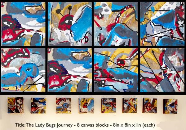 The Love Letter-Original 5ft X 5ft abstract painting on canvas by Bay area artist Bryan Matthew Boutwell