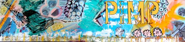 Oakland Pimp-7ftx2ft-original abstract painting by Bay area artist Bryan Boutwell