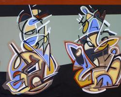 All The Kings Horses, abstract painting by Bryan Boutwell, large abstract art, fine art San Francisco,