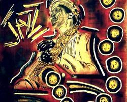 Dexter Gordon,original abstract painting by Bryan Matthew Boutwell,San Francisco Art Galleries, NYC Art Galleries,Oakland CA Artist, Live Fiction.net