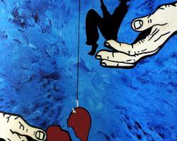 Hold Them, Help Them, Heal Them,Bryan Matthew Boutwell,abstract painting broken heart,parenthood,live fiction,art print,Oakland CA,San Francisco Art Galleries,Bay Artists,