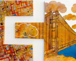 Iconic San Fran is an abstract painting by artist Bryan Boutwell themed after San Francisco