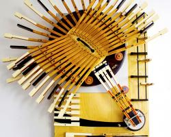 Middle C Piano Sculpture #1 by artist Bryan Boutwell at the McLoughlin Art Gallery, San Francisco CA