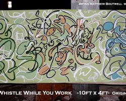 Whistle While You Work, Bryan Matthew Boutwell,live fiction,large scale abstract painting, 10ftx4ft,Oakland Artist,San Francisco Art Galleries, NYC Art galleries,